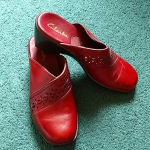 Clark's Leather Mules Size 5M